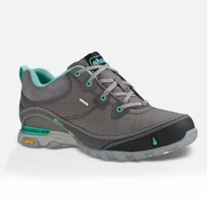 Women's Ahnu Sugarpine Waterproof Hiking Shoe | Dark Grey | Side View