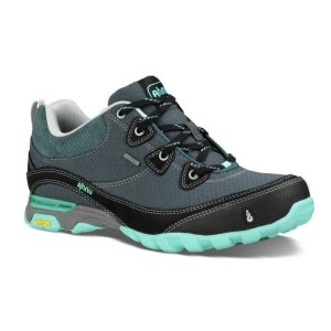 Women's Ahnu Sugarpine Waterproof Hiking Shoe | Dark Slate | Side View