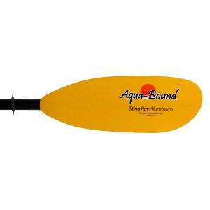Aqua-Bound Sting Ray Recreational Paddle | Yellow Blades | Blade View