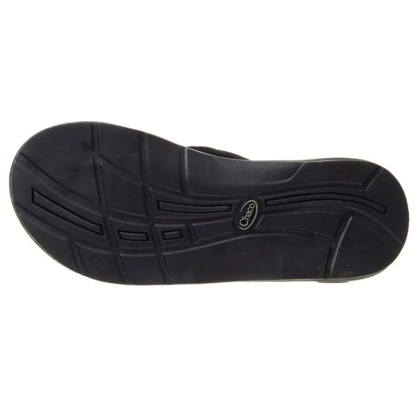 Women's Chaco EcoTread Flip Flop | Black | Bottom View