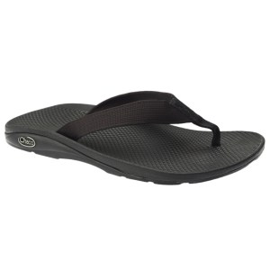 Women's Chaco EcoTread Flip Flop | Black | Side View