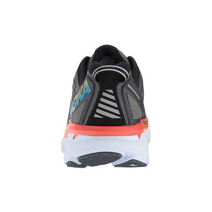Men's Hoka One One Clifton 4 Running Shoe | Castlerock Atomic Blue | Back View