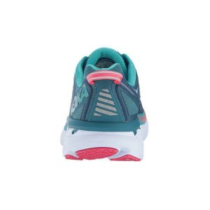 Women's Hoka One One Clifton 4 Running Shoe | Blue Coral Ceramic | Back View