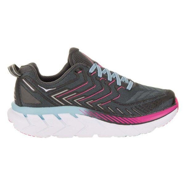 Women's Hoka One One Clifton 4 Running Shoe | Castle Rock Asphalt | Side View