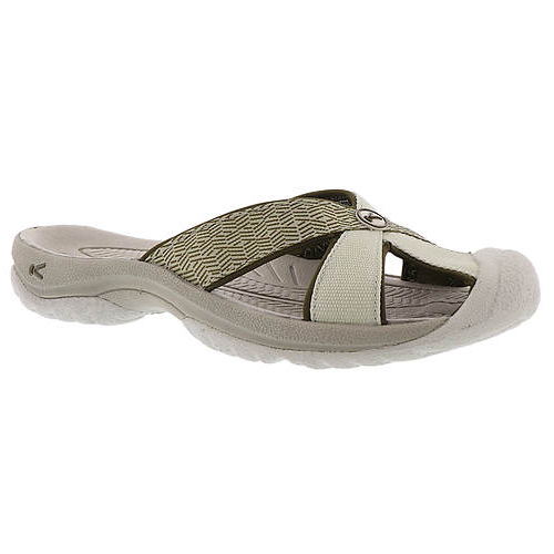 Women's Keen Bali Flip Flop | Agate Grey Dark Olive | Side View