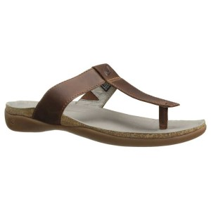 Women's Keen Dauntless Posted Flip Flop | Tortoise | Side View