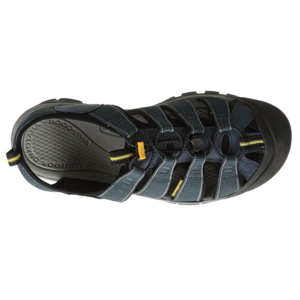 Men's Keen Newport H2 Hiking Sandal | Navy Medium Grey | Top View