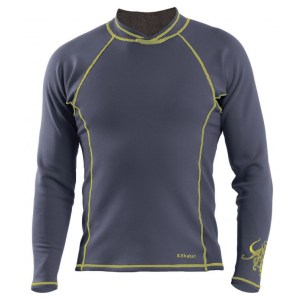 Men's Kokatat NeoCore Long Sleeve Shirt | Graphite | Front View