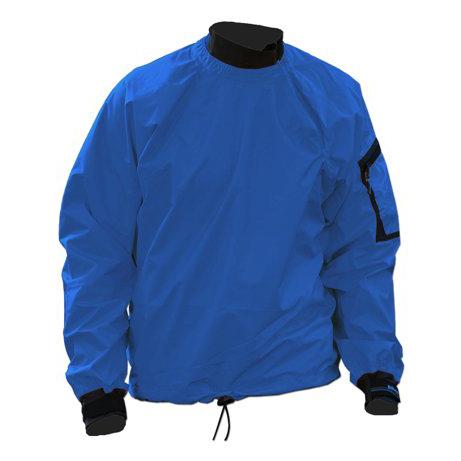 Men's Kokatat Tropos Light Breeze Paddle Jacket   Azul   Front View