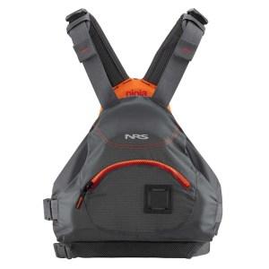 Unisex NRS Ninja PFD   Charcoal   Front View