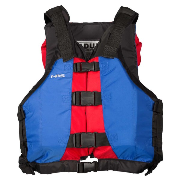 Unisex NRS Universal Big Water V PFD   Blue Red   Front View