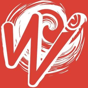 White Waka Splash Emblem | Red Background
