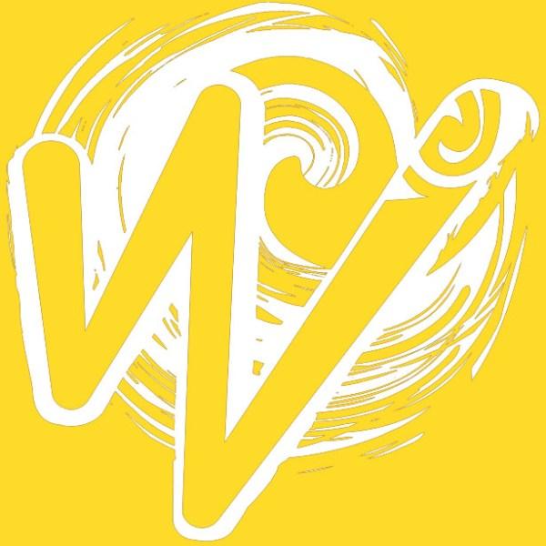 White Waka Splash Emblem | Yellow Background
