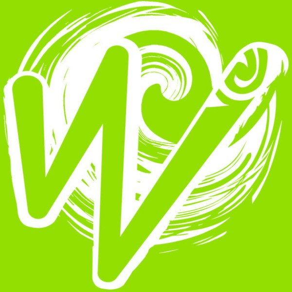 White Waka Splash Emblem | Green Background