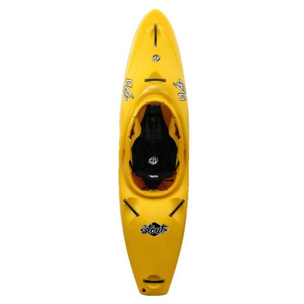 Waka Kayaks Stout Whitewater Kayak River Runner | Yellow | Top View
