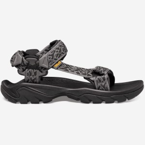 Teva Men's Terra Fi 5 Universal | Wavy Trail Black | Side View