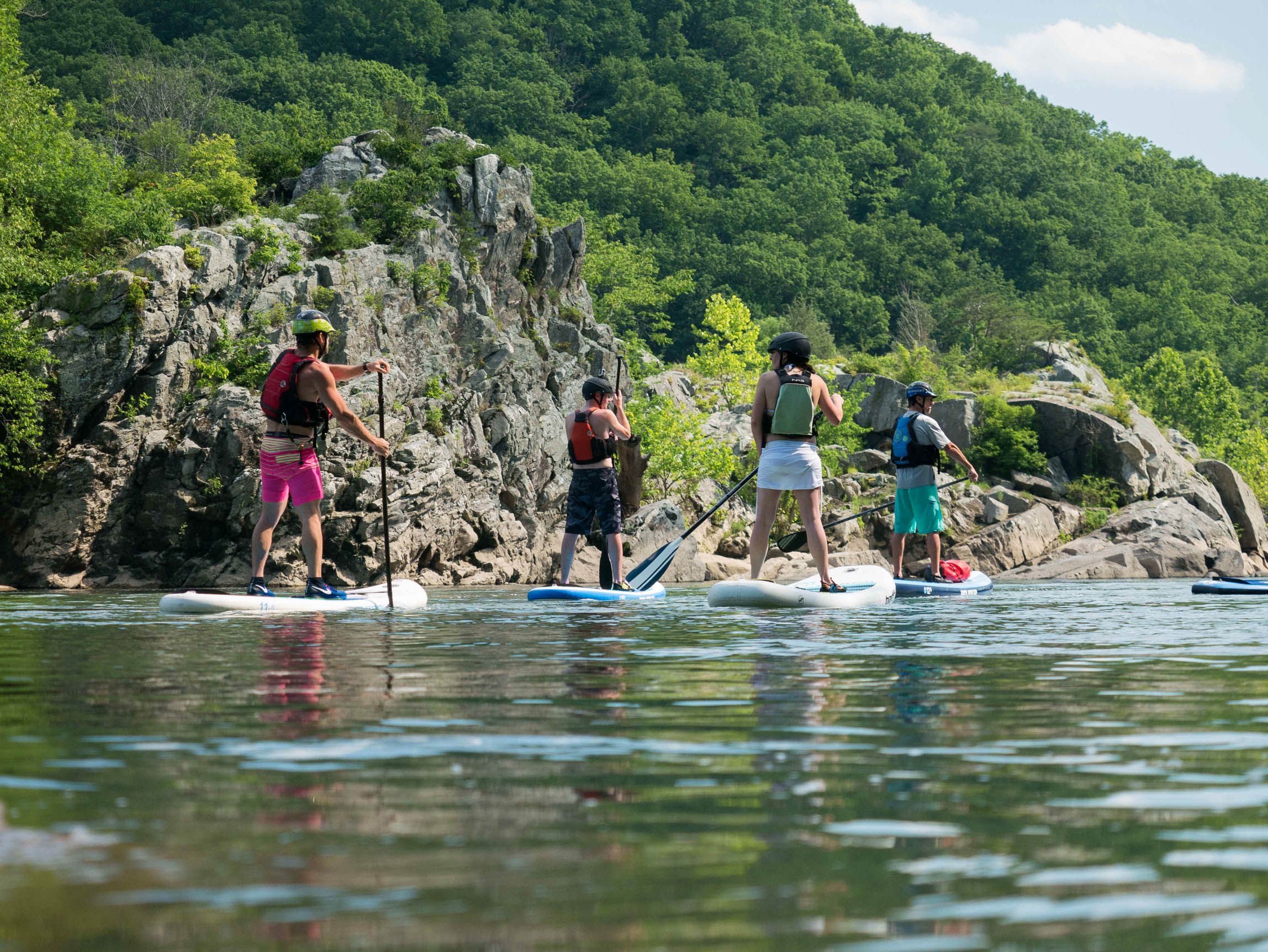 Learn to Stand Up Paddle Board on the Potomac River near Washington DC