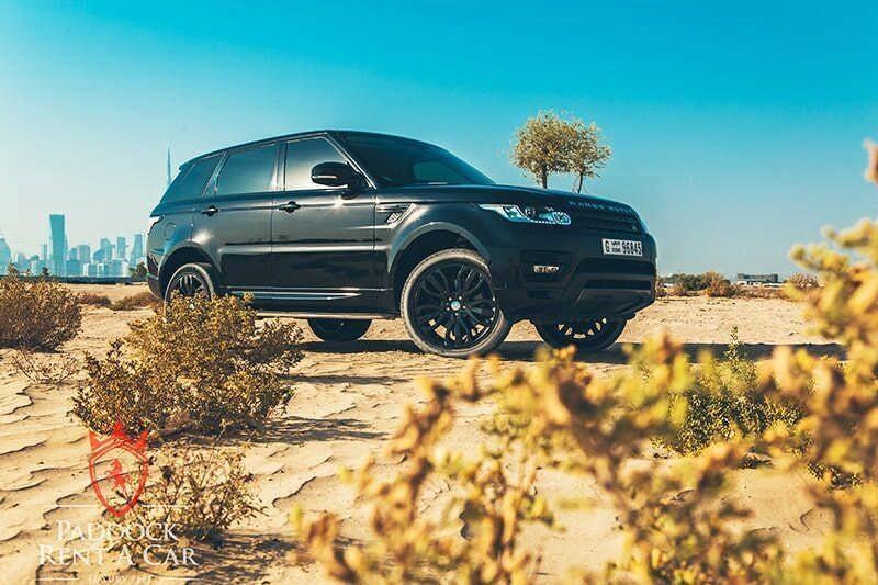 Rent Range Rover Sport Black in Dubai