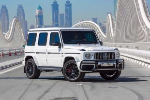 Rent Mercedes-Benz AMG G63 White in Dubai