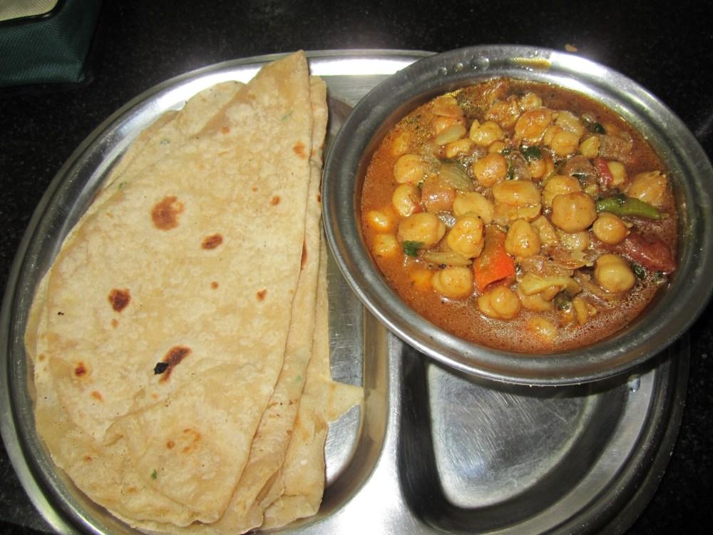 Chapathi with Chole Matore