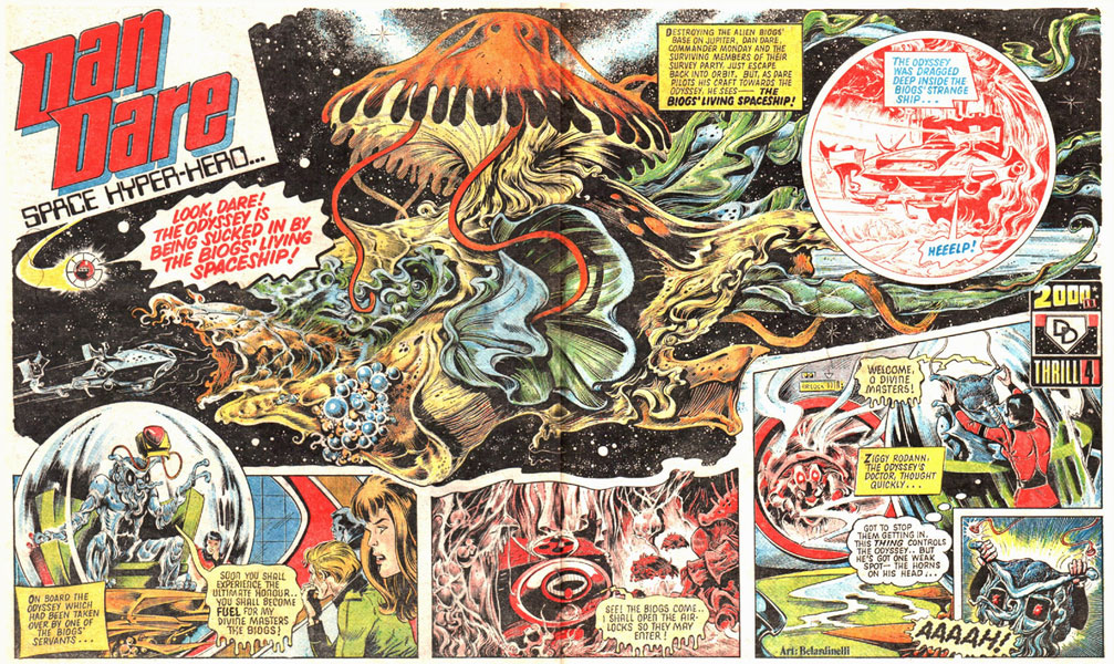 Dan Dare in 2000AD prog 8