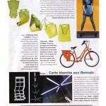 """Mention de l'étagère KC réalisée par PADE design dans un article du magazine Le Monde 2 à propos de l'exposition """"Design ... Créateurs rennais"""" présentée à la chapelle St-Yves"""