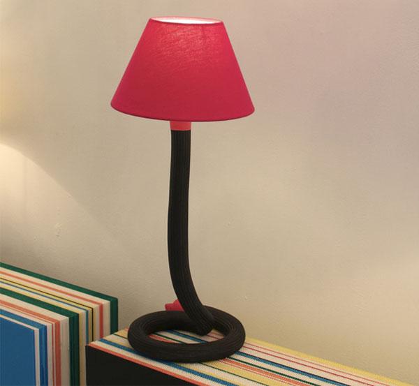 padedesign, design, objet, luminaire, lampe, chevet, flexible, incassable, enfant, souple, à poser