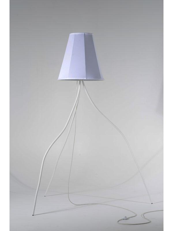 lampe dada, luminaire, pade design, blanc, abat-jour, pied