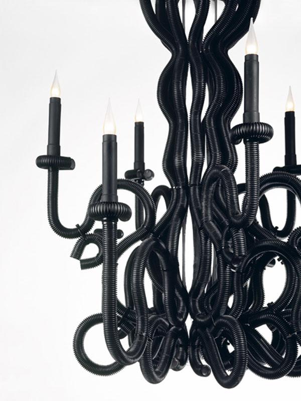 lustre, luminaire, rococo, baroque, gaine électrique, ornemental, pade design