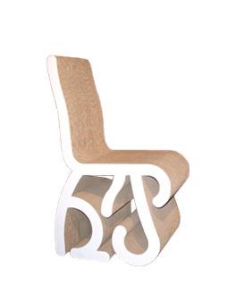 chaise roots, carton, racine, pade design, vegetal