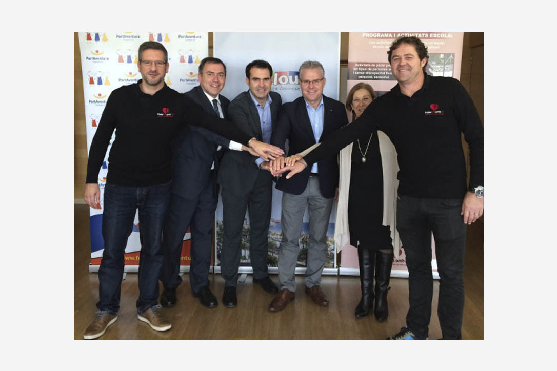 Fundació PortAventura i l'Associació «Pàdel amb Tu»