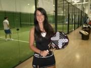 Cristina Rodriguez (Team Nox). Campeona Cántabra de padel
