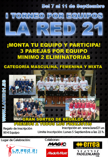 """la red 21 I Torneo por equipos """"La Red 21"""""""
