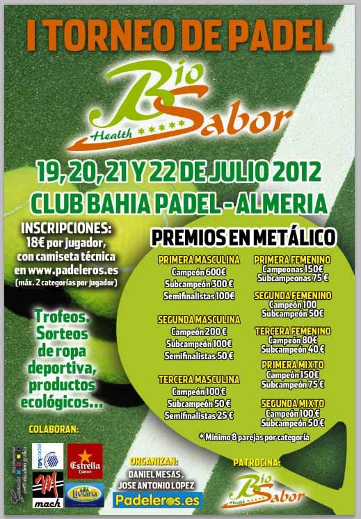 bio sabor I Torneo de Padel Bio Sabor. Almería.