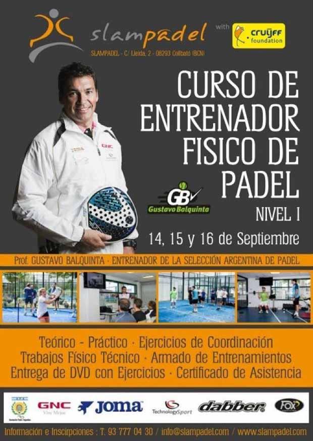 afiche barcelona Curso de entrenador físico de #padel. Barcelona.