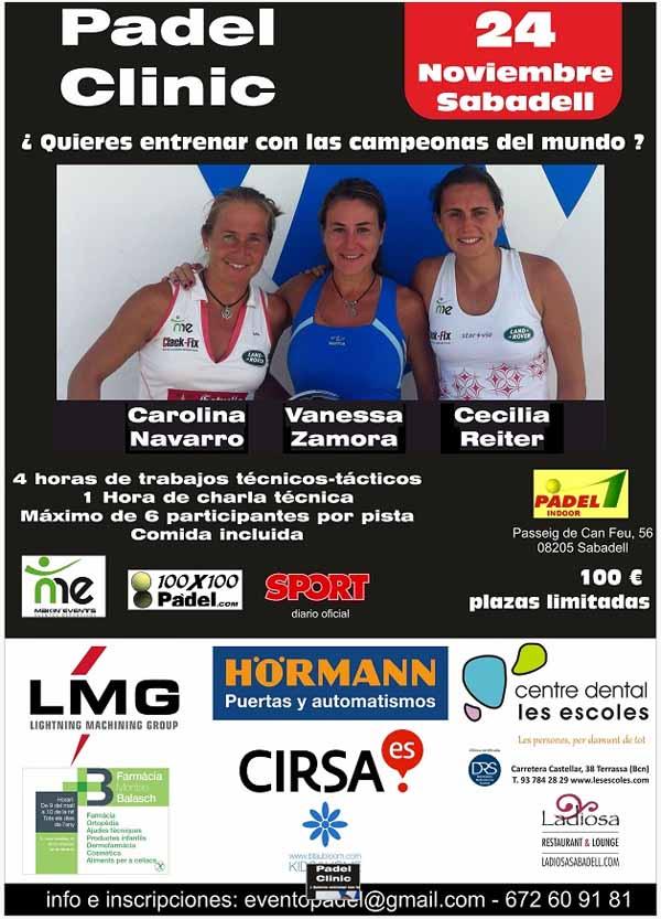 clinic carolina ¿Quieres entrenar con Carolina Navarro, Cecilia Reiter y Vane Zamora? Sabadell 24 Nov.