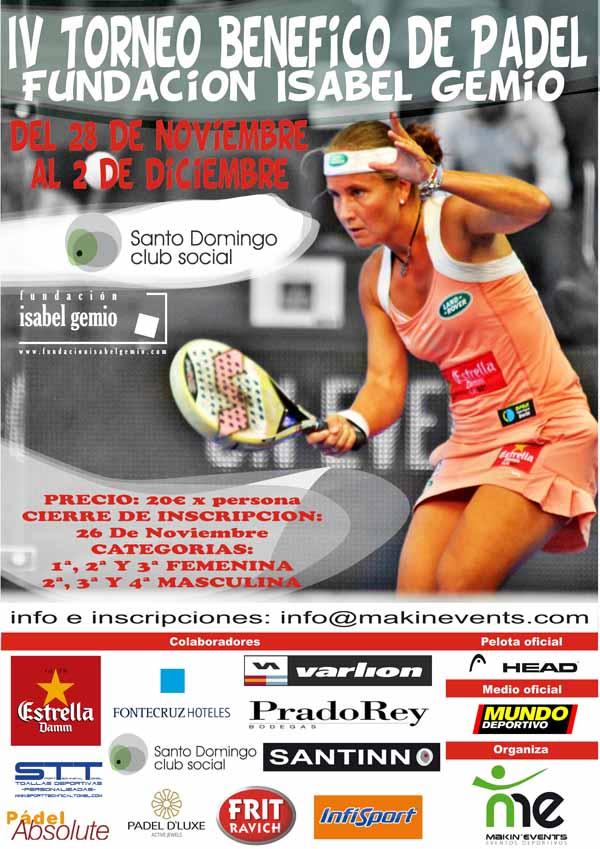 beneficofinal IV Torneo Benéfico de Padel en favor de la Fundación Isabel Gemio