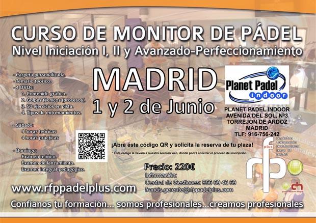 CARTEL CURSO MONITOR MADRID 1-2 JUNIO