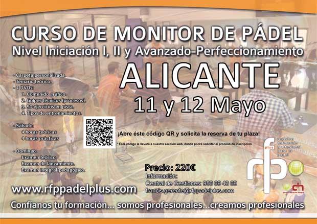 CURSO MONITOR DE PÁDEL ALICANTE 11-12 MAYO