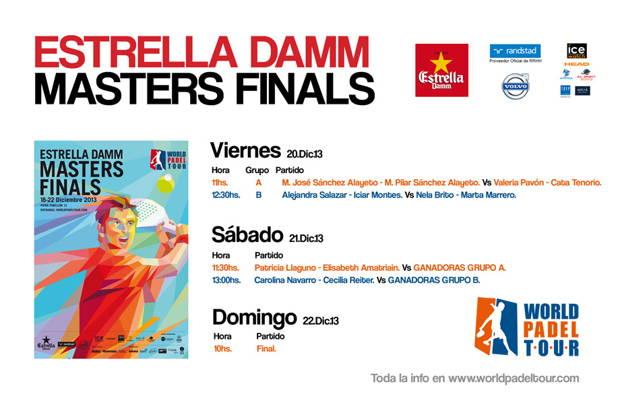 Horarios Partidos Master World Padel Tour femenino 2013