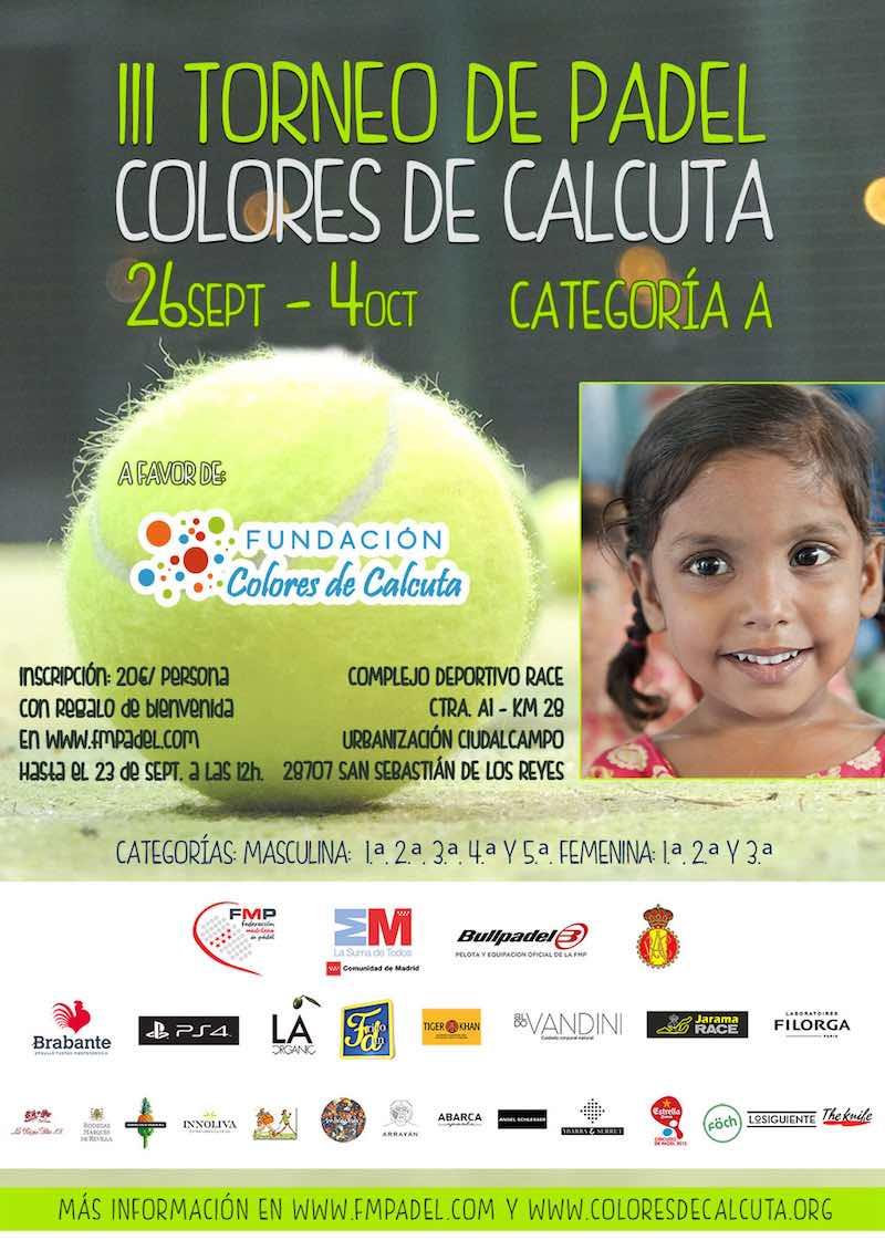III Torneo de Padel Solidario Colores de Calcuta