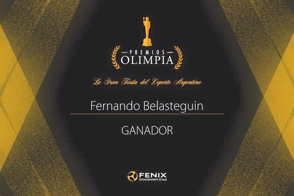 Fernando Belasteguin galardonado con el Olimpia de Plata