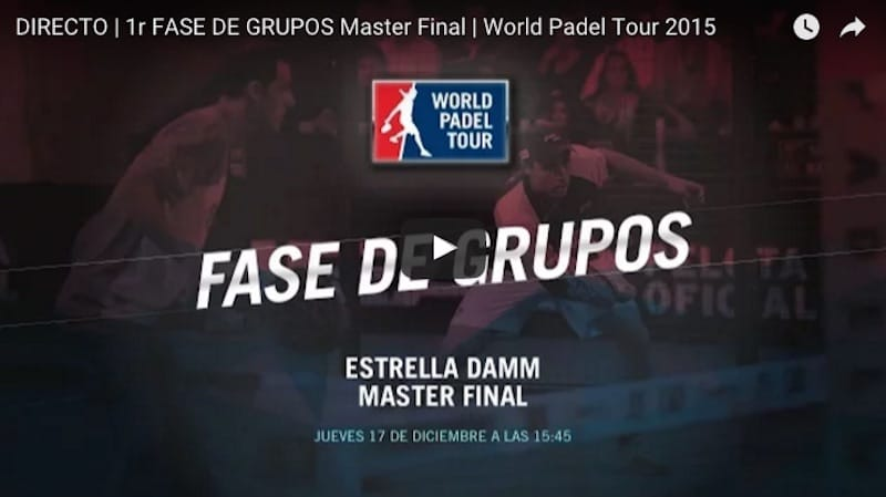 En directo jornada jueves Master Final World Padel Tour Madrid 2015