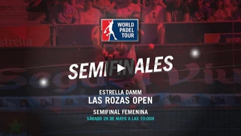 A partir de las 10:00, hora española, podremos disfrutar de las semifinales del Estrella Damm Las Rozas Open, World Padel Tour en directo y online.