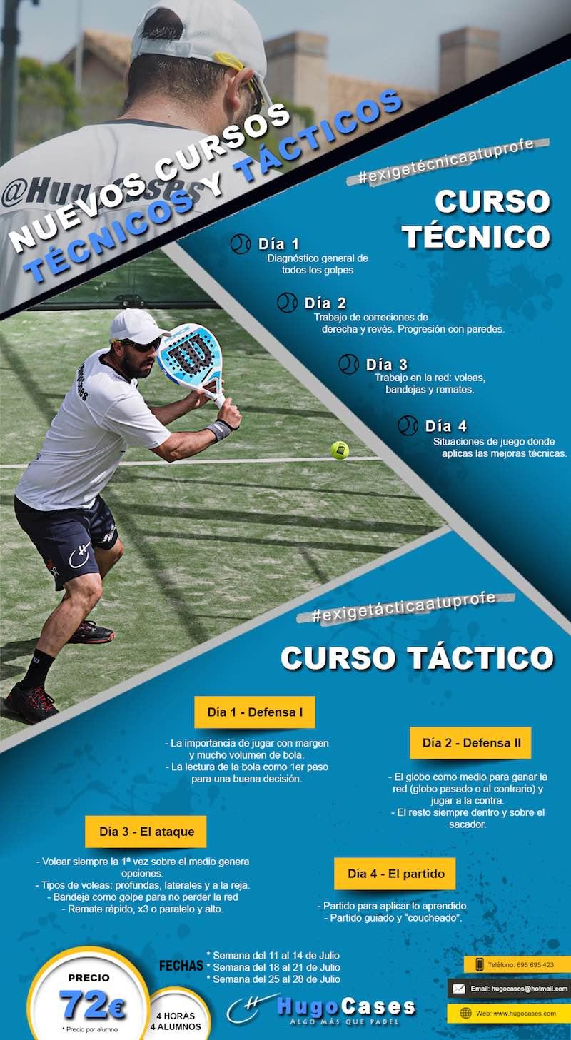 Curso aprendizaje técnico - táctico para jugadores de padel