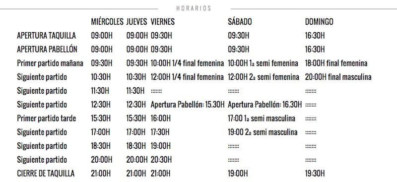 Horarios World Padel Tour Palma de Mallorca 2016
