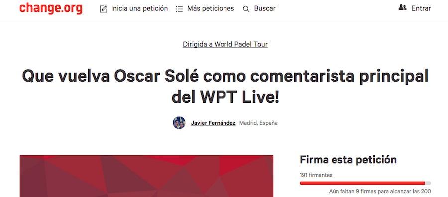 Change org World Padel Tour