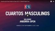 Cuartos de final en directo y online World Padel Tour Andorra 2017