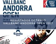 Resultados octavos de final World Padel Tour Andorra 2017