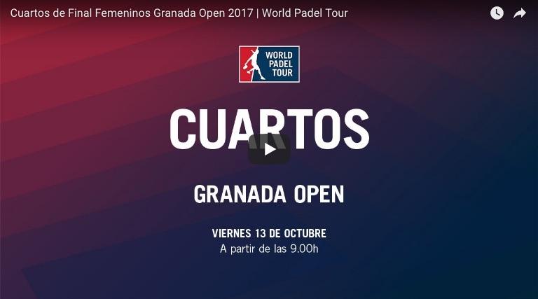 Cuartos online fem WPT Granada 2017 Resultados cuartos de final World Padel Tour Granada 2017